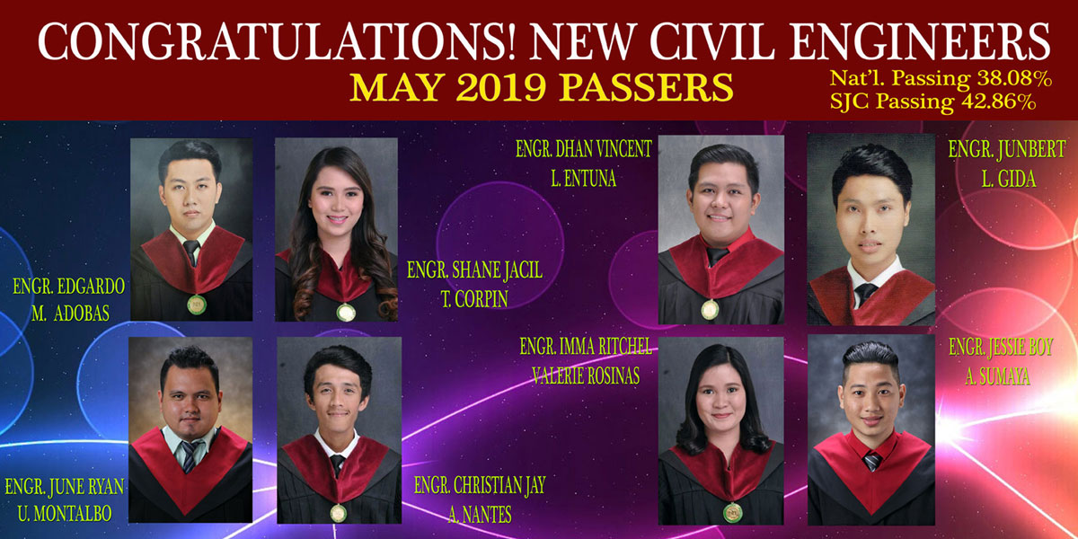May 2019 Civil Engineering Board Exam Passers
