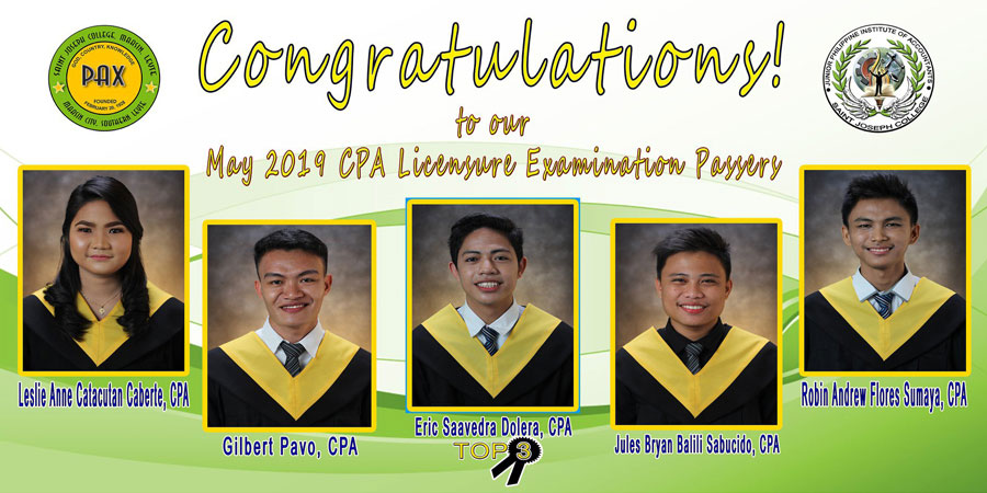 May 2019 CPA Licensure Examination Passers